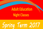 Spring 2017 Enrolment for Adult Education Night Classes - Click here